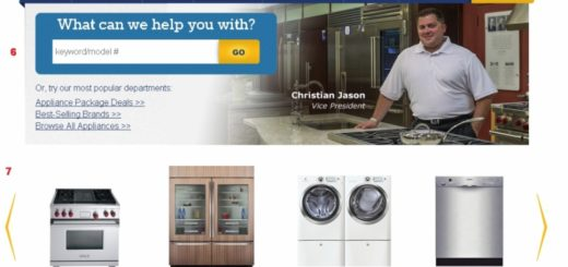 Boston Appliance Company Website and Online Store