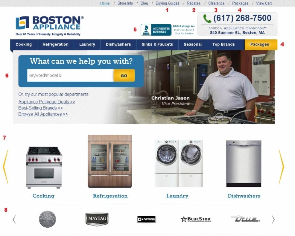 Welcome to the Redesigned Boston Appliance Website