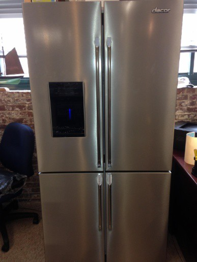 Distinctively Delicious!!! NEW Dacor 4 door refrigerator. LIVE AT THE BOSTON APPLIANCE SHOWROOM