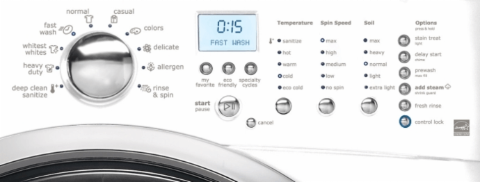 eifls60-front-load-washer-controls