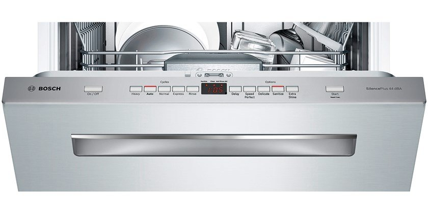 """Bosch 24"""" Pocket Handle Dishwasher 500 Series - Stainless Steel Model # SHP65TL5UC"""