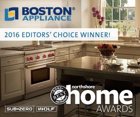 Boston Appliance Sub-Zero Wolf Dealer - BONS 2016 EDITORS' CHOICE AWARD WINNER