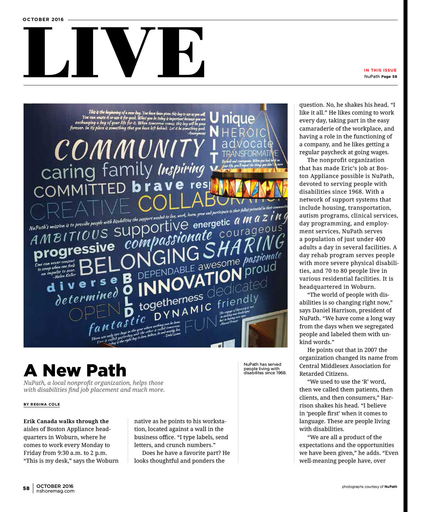 Boston Appliance and NuPath in Northshore Magazine Part 1