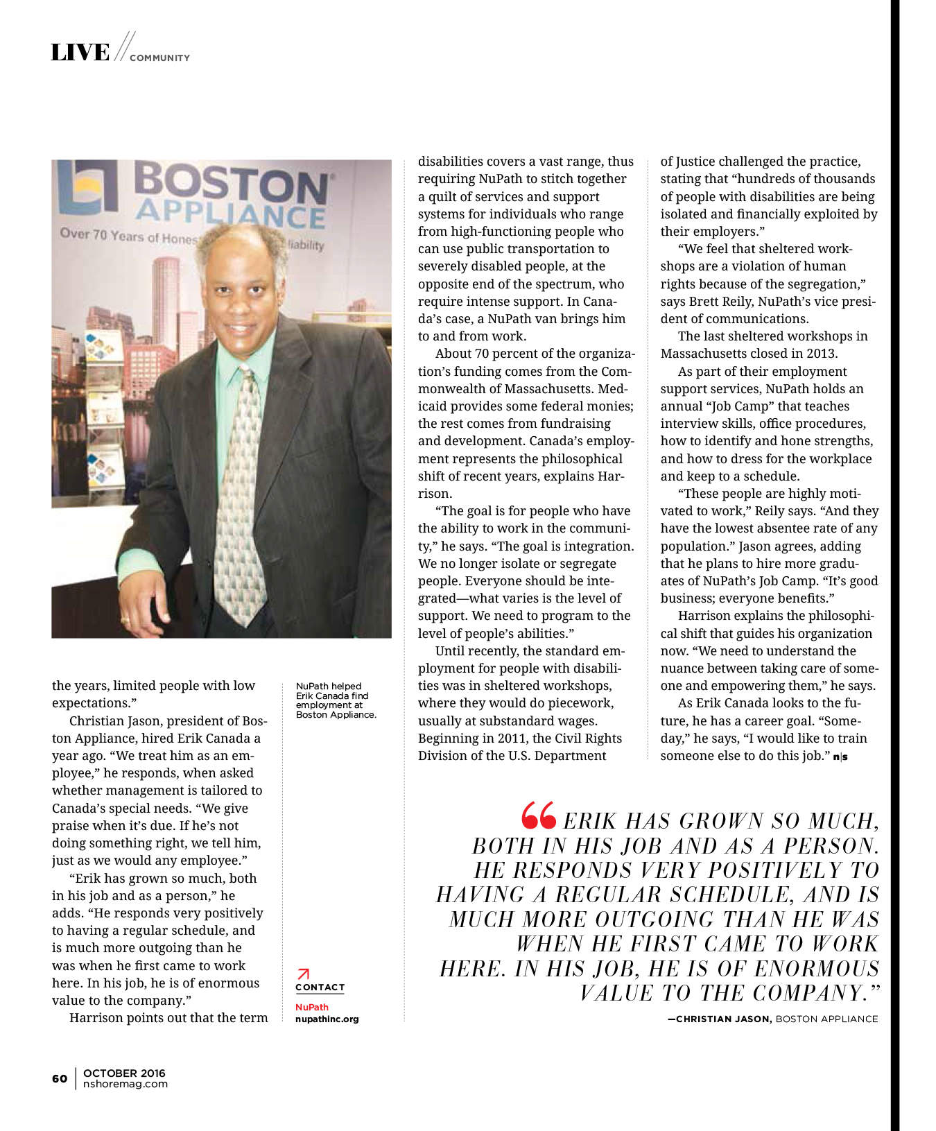 Boston Appliance and NuPath in Northshore Magazine Part 2