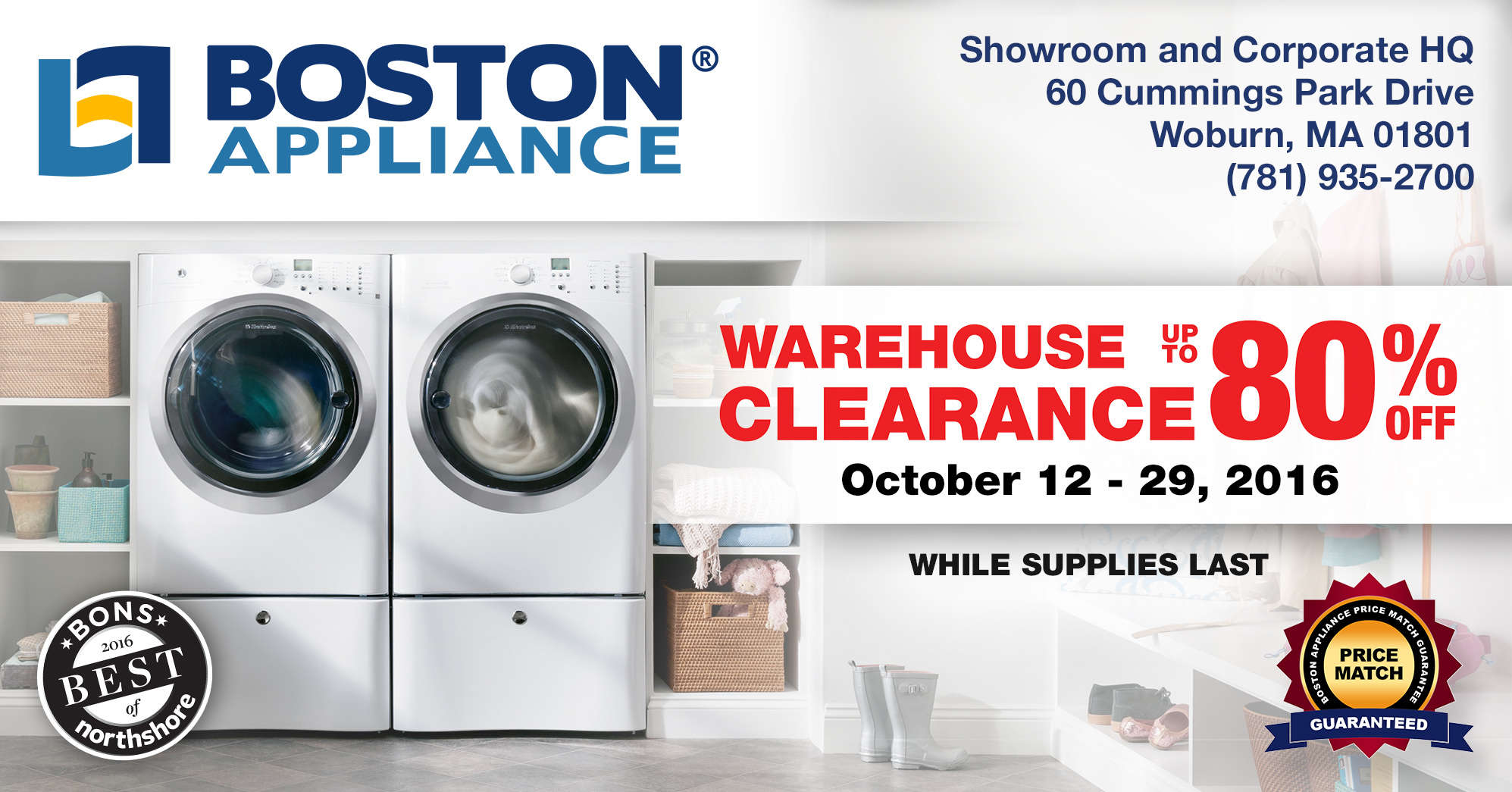 Boston Appliance Warehouse Clearance Sale