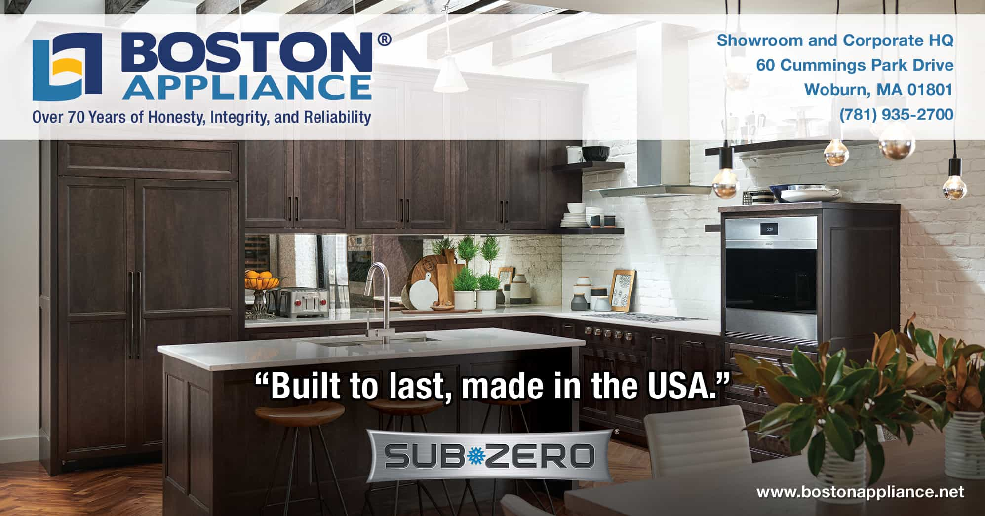 Sub-Zero Refrigerators Built to Last and Made in the USA