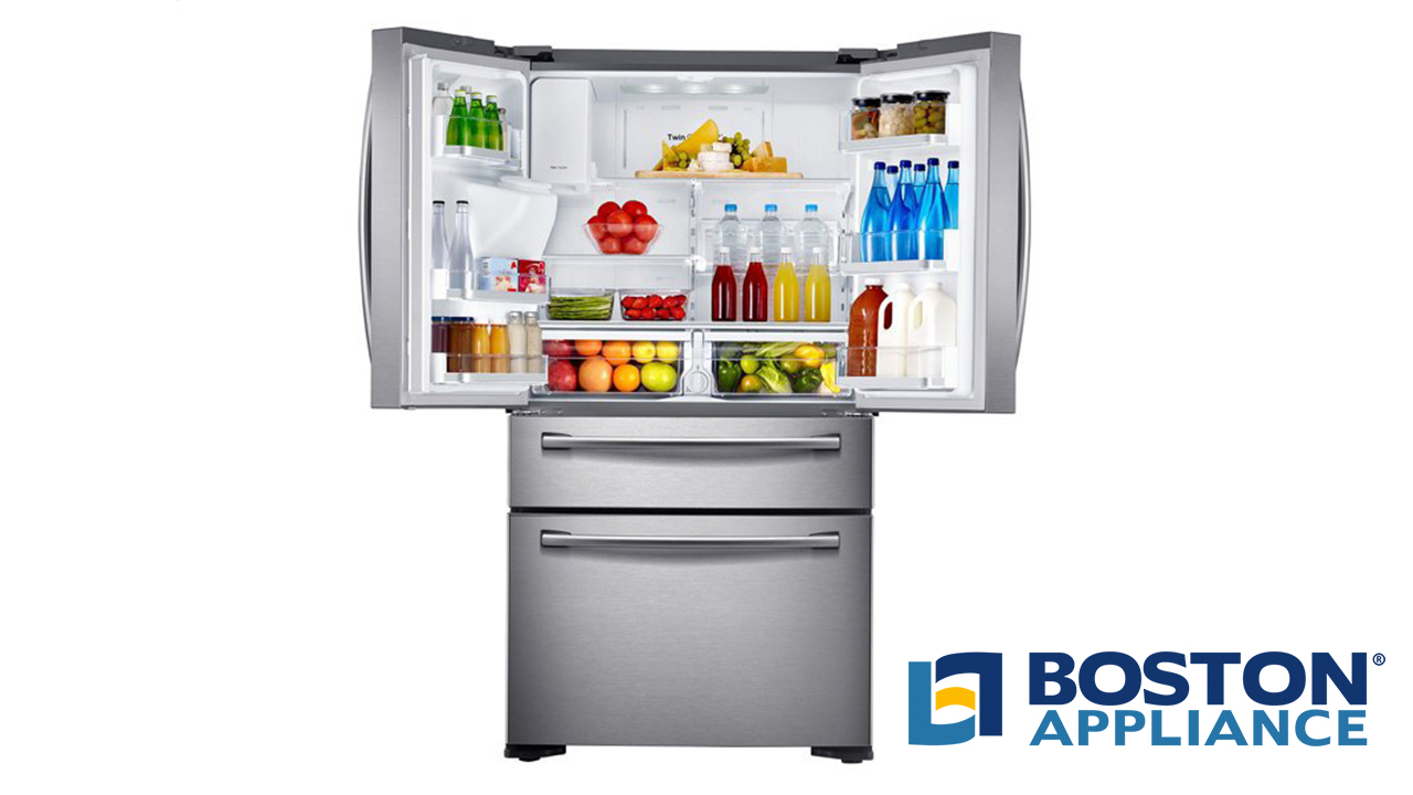 Samsung Counter Depth Refrigerator with Stainless Steel French Doors